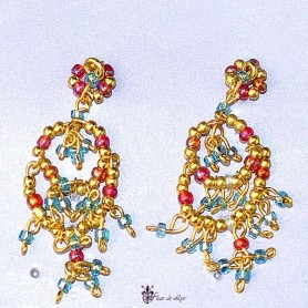 BOUCLES D'OREILLES INDIA FASHION ROYALTY BARBIE SILKSTONE