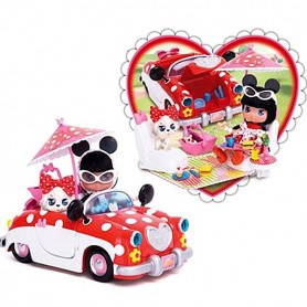 I LOVE MINNIE DISNEY MICKEY DOLL + CAR + 35 ACCESSORIES BJD SIZE PUKIFEE LATI YELLOW DIORAMA DOLLHOUSE