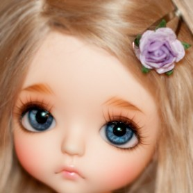 TINY HAIR CLIP 2 CM PURPLE FOR CUSTOM DOLL BJD DOLL BLYTHE PULLIP LATI PUKIFEE MEADOWDOLLS