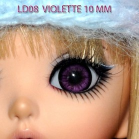 YEUX GLIB VIOLET VIOLETTE 12LD08 REALISTIC EYES POUPÉE BJD BALL JOINTED DOLL LATI YELLOW PUKIFEE 10 mm