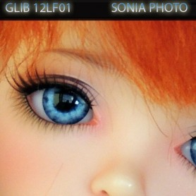 YEUX GLIB BLEU CIEL REALISTIC EYES POUPÉE BJD BALL JOINTED DOLL LATI YELLOW PUKIFEE 12 mm