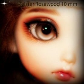 YEUX EN VERRE MEISTER GLASS EYES 10 mm ROSEWOOD POUPÉE BJD BALL JOINTED DOLL LATI YELLOW PUKIFEE YOSD
