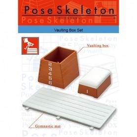 RE-MENT MINIATURE POSE SKELETON VAULTING BOX SET & ACCESSORIES SMALL FURNITURE DIORAMAS 1:24
