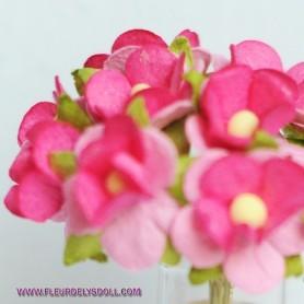 BEAUTIFUL PINK ROSES FLOWERS MINIATURE LATI YELLOW PUKIFEE BJD BLYTHE PULLIP BARBIE DOLL ROOM DIORAMA DOLLHOUSE