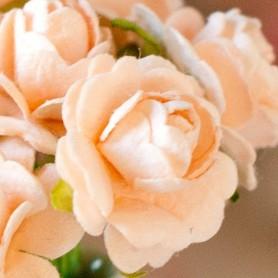 BEAUTIFUL PEACH PINK ROSES FLOWERS MINIATURE LATI YELLOW PUKIFEE BJD BLYTHE PULLIP BARBIE DOLL ROOM DIORAMA DOLLHOUSE