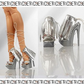 SILVER STYLE JOE TAI STILETTO SHOES FOR SYBARITE TONNER FICON JAMIESHOW DOLL