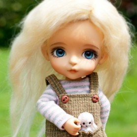 PERRUQUE WIG EXCLUSIVE FLEURDELYSDOLL BJD LATI YELLOW PUKIFEE BJD MY MEADOWS CHARA NAVI DOLLZONE LANKUI 5/6