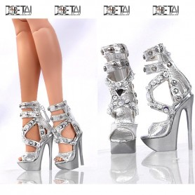 SILVER DIAM JOE TAI STILETTO SHOES FOR SYBARITE TONNER FICON JAMIESHOW DOLL