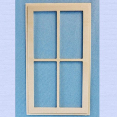 WOOD WINDOW FOR DIORAMA DOLLHOUSE PLAYSCALE MINIATURE BARBIE FASHION ROYALTY BLYTHE PULLIP 1/6