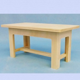 WOOD COUNTRY TABLE FOR DIORAMA DOLLHOUSE PLAYSCALE MINIATURE BARBIE FASHION ROYALTY BLYTHE PULLIP 1/6
