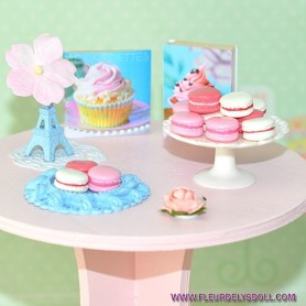 WOODEN ROUND TABLE FOR DIORAMA DOLLHOUSE PLAYSCALE MINIATURE BARBIE FASHION ROYALTY BLYTHE PULLIP 1/6