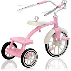 PRETTY PINK TRIKE HALLMARK BIKE COLLECTOR MINIATURE LATI WHITE SP PUKIPUKI BJD DOLLHOUSE
