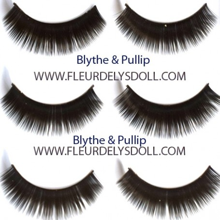 BLACK LONG EYELASHES FOR BLYTHE AND NEO BLYTHE DOLLS