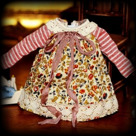 BEAUTIFUL HAND MADE SHABBY VINTAGE DRESS FOR BLYTHE AND PULLIP DOLLS PURE NEEMO LICCA