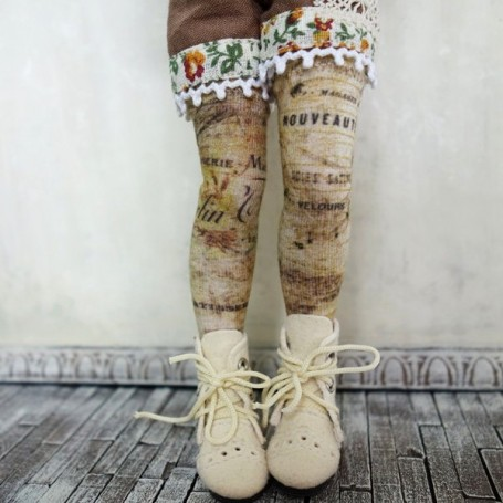 BAS GRANDES CHAUSSETTES ECRITURE VINTAGE TAILLE BLYTHE PURE NEEMO LICCA...