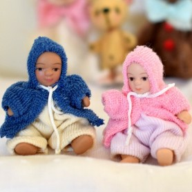MINIATURE BABY BABIES FOR DOLLHOUSE DIORAMA TINY BJD LATI YELLOW PUKIFEE...