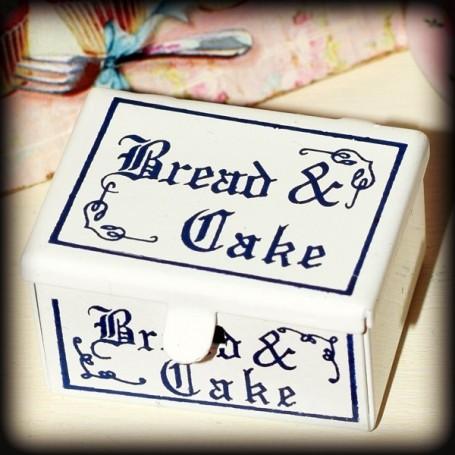 BREAD AND CAKE VINTAGE BOX MINIATURE LATI YELLOW BARBIE FASHION ROYALTY BLYTHE PULLIP DIORAMA 1:6