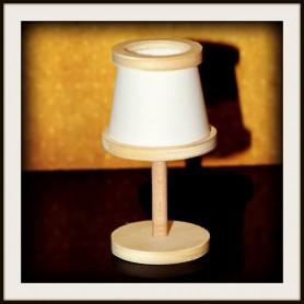 LAMPE EN BOIS DIY MINIATURE BARBIE FASHION ROYALTY BLYTHE PULLIP SYBARITE TONNER BJD