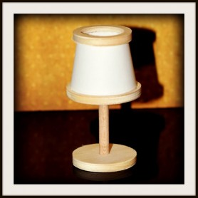 WOODEN LAMP MINIATURE DIY FOR BARBIE FASHION ROYALTY BLYTHE PULLIP SYBARITE TONNER BJD ...
