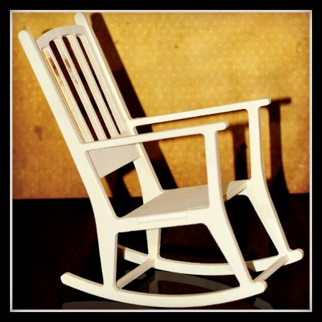 WOODEN ROCKING CHAIR FOR BARBIE FASHION ROYALTY BLYTHE PULLIP MOMOKO MONSTER HIGH DOLLHOUSE DIORAMA 1/6