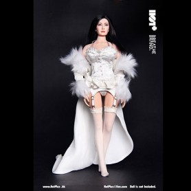 TENUE LINGERIE HOTPLUS WHITE EVENING POUR POUPEE PHICEN HOT TOYS FEMME SEXY DOLL ACTION FIGURE KUMIK HOT TOYS