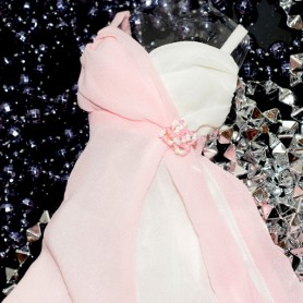 ROBE JOE TAI ROSE ET BLANC SYBARITE JAMIESHOW KINGDOM DOLLS TYLER TONNER 16""