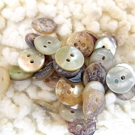 TINY VINTAGE SHELL BUTTONS 8 MM DOLL SEWING BJD LATI YELLOW PUKIFEE BARBIE BLYTHE PULLIP