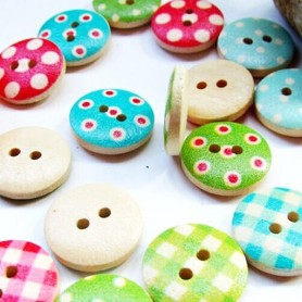 ASSORTED 5 CUTE BUTTONS 15 MM DOLL FOR SEWING BJD DOLLS BARBIE BLYTHE PULLIP
