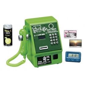 TELEPHONE PUBLIC REVEIL ET CANETTE VINTAGE RE-MENT MINIATURE BARBIE BJD BLYTHE PULLIP DIORAMAS PLAYSCALE DOLLHOUSE
