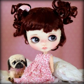PERRUQUE WIG SUYING CHERRY POUR POUPEES BLYTHE & NEO BLYTHE 9-10