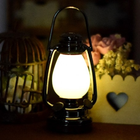 Tomaibaby Lanterne Miniature Lampe Allumer Maison de Poup/ée Miniature D/écor F/ée Jardin Ornements pour Maison de Poup/ée F/ée Jardin D/écoration Sc/ène Tir Brun