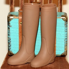 BROWN BOOTS FASHION ROYALTY BARBIE SILKSTONE