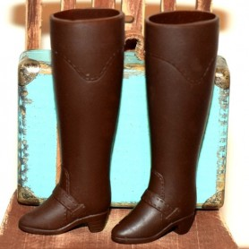 BOTTES BROWN MARRON FASHION ROYALTY BARBIE BLYTHE SILKSTONE AZONE
