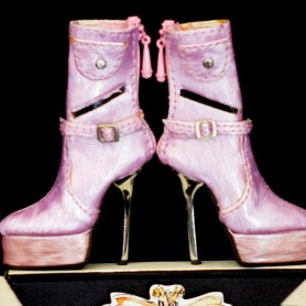 BOTTINES CHAUSSURES STILETTO JOE TAI SYBARITE HAUTE COUTURE SUPERFROCK SUPERDOLL
