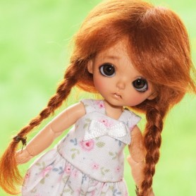 WIG MOHAIR MAFALDA BJD LATI WHITE LATIDOLL PUKIPUKI FAIRYLAND DOLLZONE MOMO BARBIE FASHION ROYALTY 4""