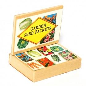GARDEN SEEDS DISPLAY BOX MINIATURE LATI YELLOW BARBIE FASHION ROYALTY BLYTHE PULLIP DIORAMA DOLLHOUSE