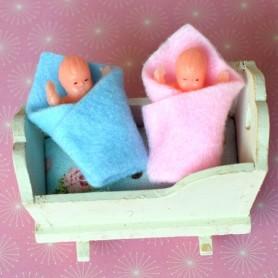 MINIATURE BABY BABIES FOR DOLLHOUSE DIORAMA TINY BJD LATI YELLOW PUKIFEE...