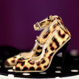 LEOPARD STILETTO SHOES JOE TAI SYBARITE HAUTE COUTURE SUPERFROCK SUPERDOLL