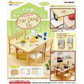 TABLE + 4 CHAISES REMENT RE-MENT MINIATURE BJD PETITE BLYTHE PETITE PULLIP LATI YELLOW PUKIFEE DIORAMAS DOLLHOUSE