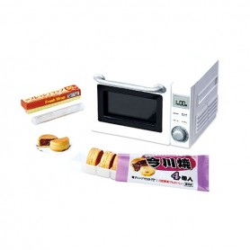 FOUR MICRO ONDES CUISINE REMENT RE-MENT MINIATURE BARBIE BJD BLYTHE PULLIP DIORAMAS PLAYSCALE DOLLHOUSE