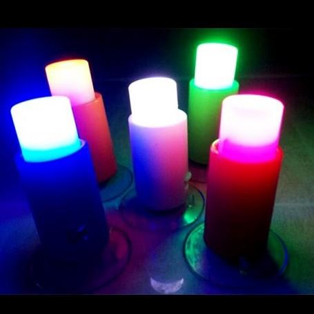 LAMPE LED ONE TOUCH MINIATURE LATI YELLOW BARBIE FASHION ROYALTY BLYTHE PULLIP DIORAMA DOLLHOUSE 1/6