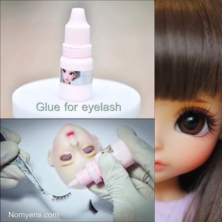 COLLE SPÉCIALE NOMYENS POUR CILS DE POUPEES BJD BALL JOINTED DOLLS EYELASHES LATI YELLOW PUKIFEE YOSD LITTLEFEE MINIFEE SD...