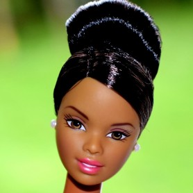 BARBIE AA AFRO AMERICAINE CHIGNON COLLECTOR RARE NUE