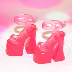 CHAUSSURES ROSES STILETTO FASHION ROYALTY BARBIE SILKSTONE JOE TAI MOMOKO