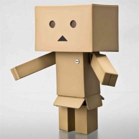 PETIT ROBOT JAPONAIS DANBO DOLL 8 CM ARTICULE AVEC LUMIERE LED RARE