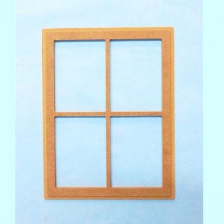 WOOD WINDOW FOR DIORAMA DOLLHOUSE PLAYSCALE MINIATURE BARBIE FASHION ROYALTY BLYTHE PULLIP 1/6