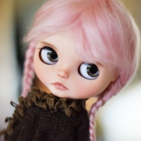 EXCLUSIVE MOHAIR PINK CANDY COTTON KAWAII DOLL WIG 10-11 CUSTOM BLYTHE BJD DOLL MEADOWDOLLS MAE ZWERGNASE