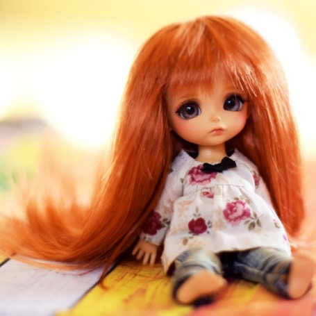 RED FAITH 5/6 WIG FOR SYBARITE TONNER KINGDOM DOLL MEADOWDOLL