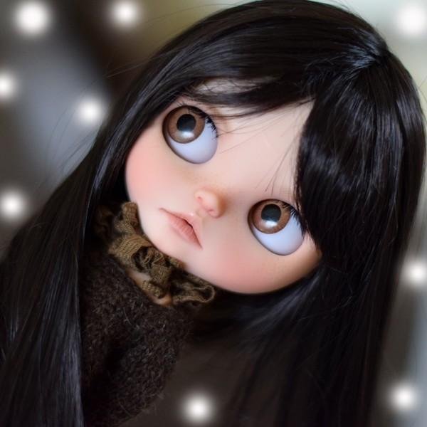 14 13 18 BJD Doll Wig Fake Fur Wig Brown 112 16