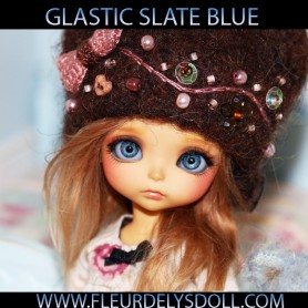 YEUX SLATE BLUE 10 MM RÉALISTES GLASTIC REALISTIC EYES POUR POUPÉE BJD BALL JOINTED DOLL LATI YELLOW PUKIFEE 10 MM